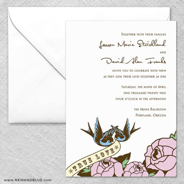 Bettie 2 Invitation And Envelope
