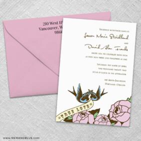 Bettie 3 Invitation And Color Envelope
