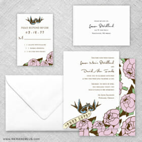 Bettie 5 Wedding Invitation And Rsvp Card
