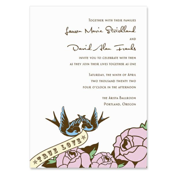 Bettie Invitation Shown In Color Pink