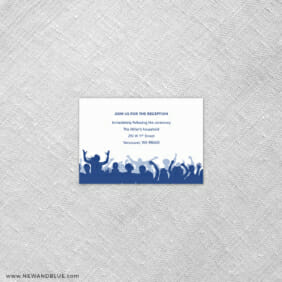 Big Celebration Bar Mitzvah 7 Reception Card