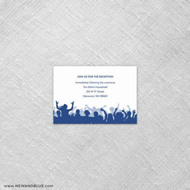 Big Celebration Bar Mitzvah 7 Reception Card