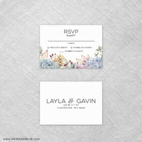 Botanical 6 Reception Card And Rsvp Card