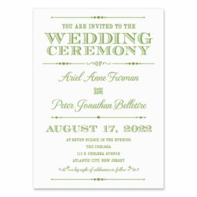 Calliope Wedding Invitation