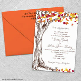 Celebration Of Love 3 Invitation And Color Envelope