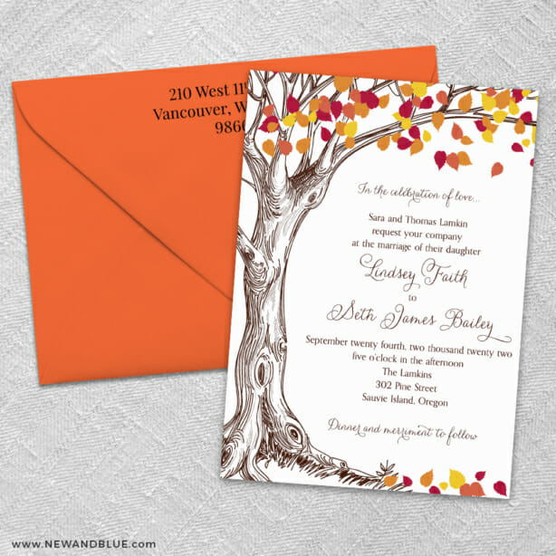 Celebration Of Love 3 Invitation And Color Envelope