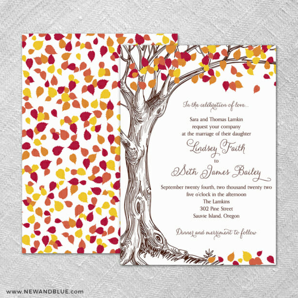 Celebration Of Love 4 Invitation Shown With Back Printing