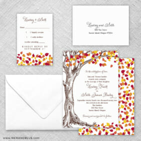 Celebration Of Love 5 Wedding Invitation And Rsvp Card