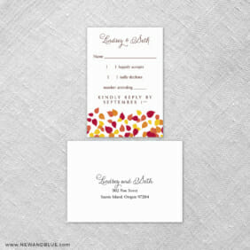 Celebration Of Love 6 Reception Card And Rsvp Card