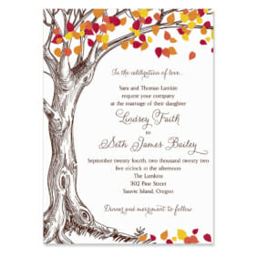Celebration Of Love Invitation Shown In Color Brown