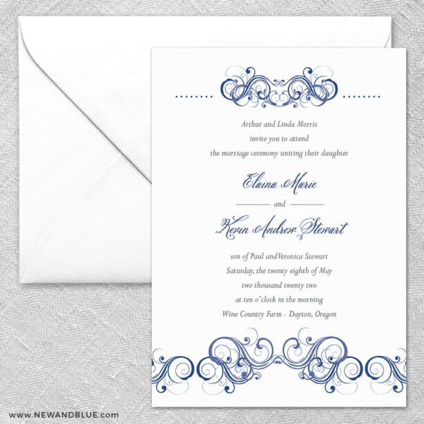 Central Park 2 Invitation And Envelope