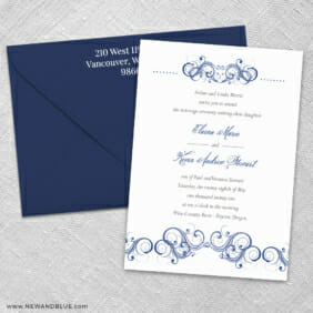 Central Park 3 Invitation And Color Envelope