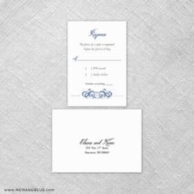 Central Park 6 Reception Card And Rsvp Card