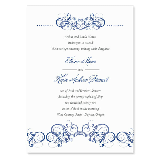 Central Park Invitation Shown In Color Blue