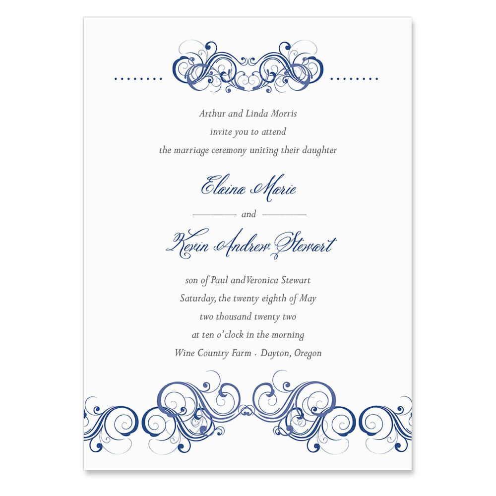 Central Park Invitation Shown In Color Blue