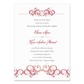 Central Park Wedding Invitation
