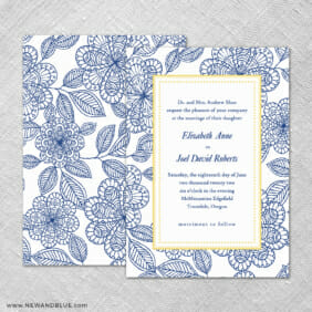 Charlotte 4 Invitation Shown With Back Printing