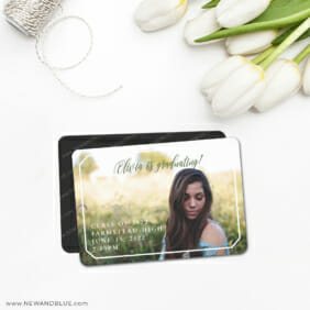 Graduation In Frame 5 Save The Date Magnet