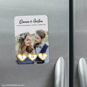 Heart Trio 3 Scratch Off Refrigerator Save The Date Magnets1