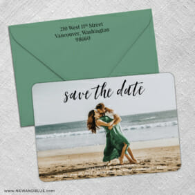 Over The Moon 3 Save The Date With Optional Color Envelope