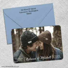 Seabrook 3 Save The Date With Optional Color Envelope