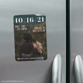 Simply Modern 4 Refrigerator Save The Date Magnets