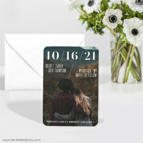 Simply Modern 6 Wedding Save The Date Magnets With Envelope