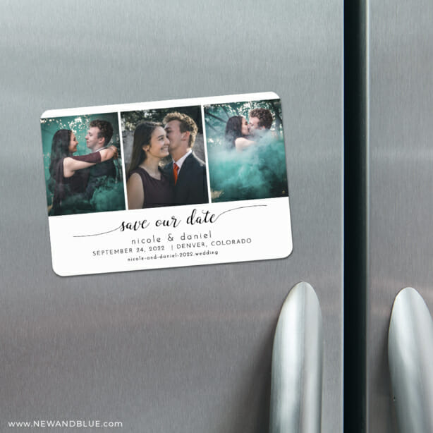 Triptych Of Love 4 Refrigerator Save The Date Magnets