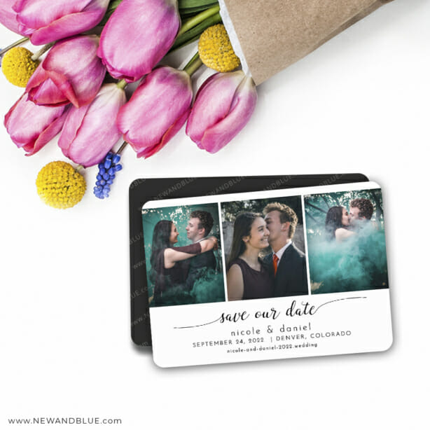 Triptych Of Love 7 Wedding Save The Date Magnets