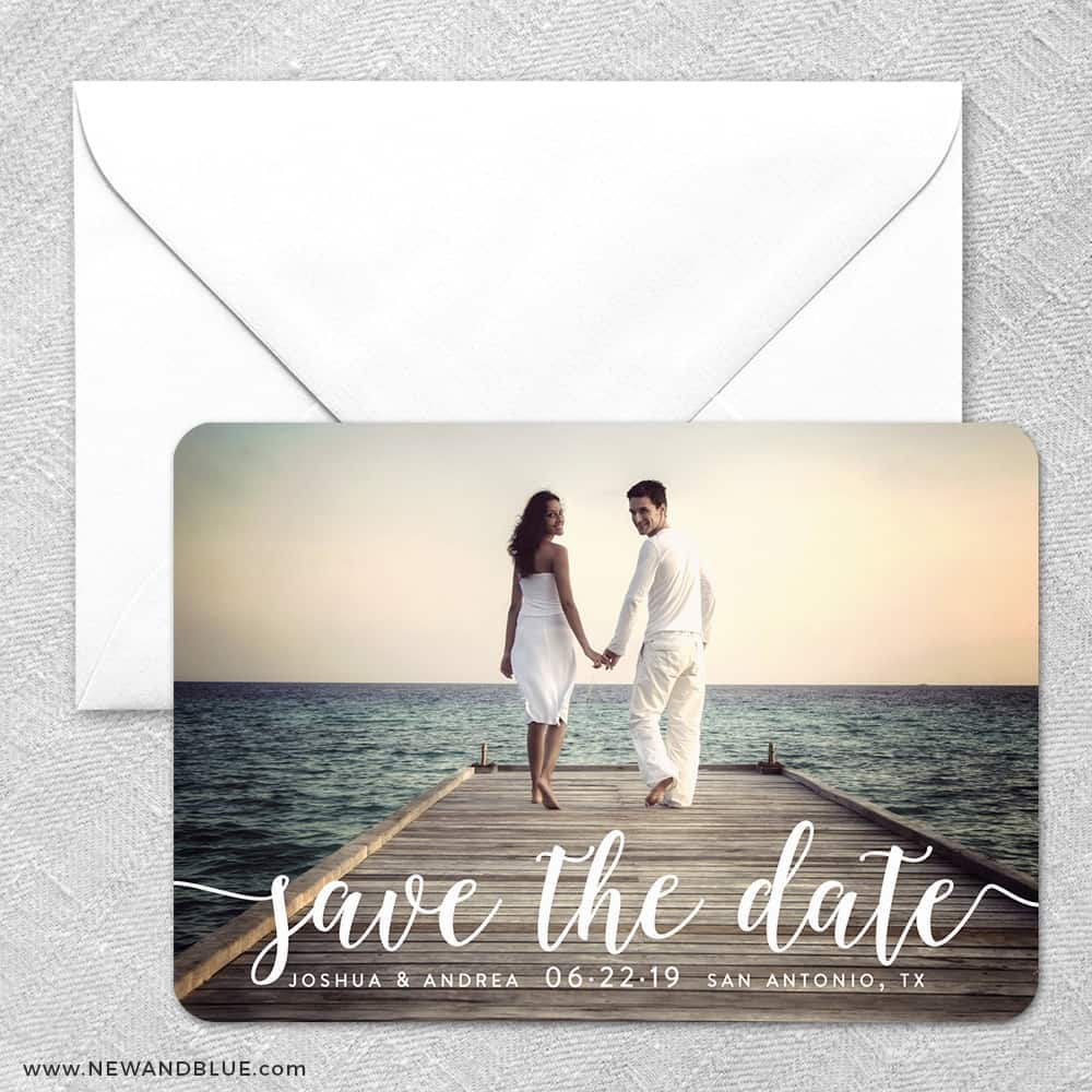 Handwriting Foil Save The Date Magnets
