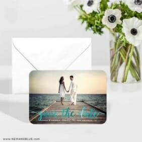 Handwriting 5 Foil Wedding Save The Date Magnets