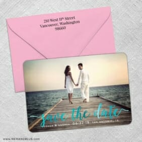 Handwriting 2 Foil Save The Date With Optional Color Envelope