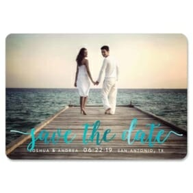 Handwriting 1 Save The Date Magnets Foil