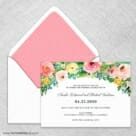 Bright Blooms Wedding Invitation With Envelope Liner