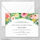 Bright Blooms Wedding Invitation With Envelope