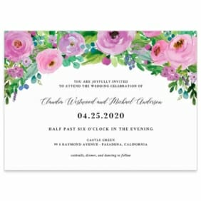 Bright Blooms Wedding Invitation