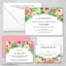 Bright Blooms Wedding Invitation And Rsvp