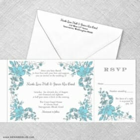 Newburyport All Inclusive Invitation With Postcard Rsvp