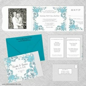 Newburyport All Inclusive Invitation Shown With Optional Color Envelope