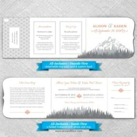 Skamania All Inclusive Wedding Invitations 4