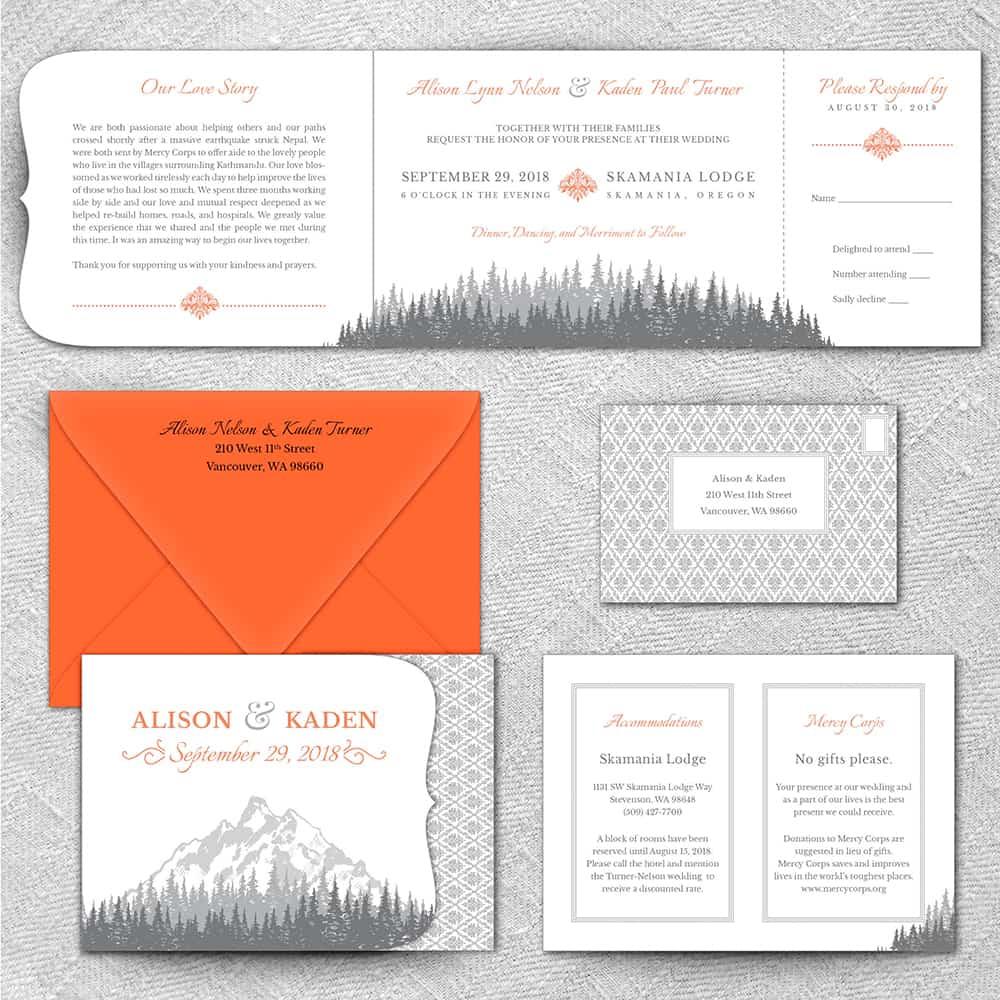 Skamania All Inclusive Wedding Invitations