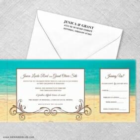 Kona All Inclusive Invitation With Postcard Rsvp