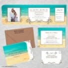 Kona All Inclusive Invitation Shown With Optional Color Envelope