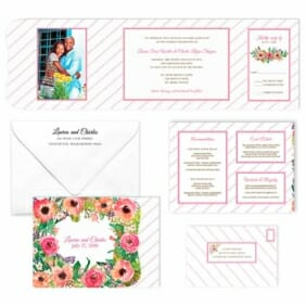 Brilliant Floral All Inclusive Invitation