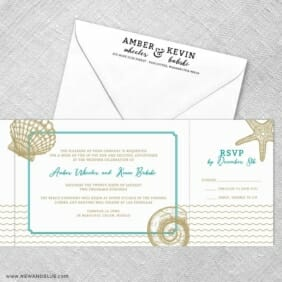 On The Beach All Inclusive Invitation With Postcard Rsvp