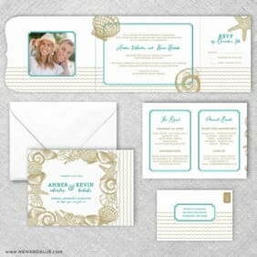 On The Beach All Inclusive Invitation Set