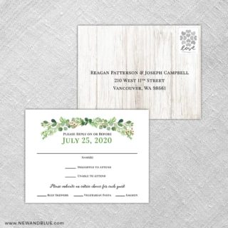 Jubilee Rsvp Postcard Has Perforated Edge For Easy Removal Postage Not Included By New And Blue