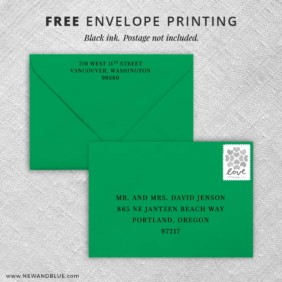 Jubilee Return Address Printing And Recipient Address Printing Included With All Inclusive Invitations By New And Blue