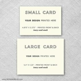 Ivory Card Stock Landscape Orientation Small And Large Additional Card Comparison