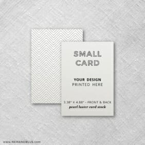 Pearl Luster Portrait Orientation Small Additional Custom Card Front And Back Printing